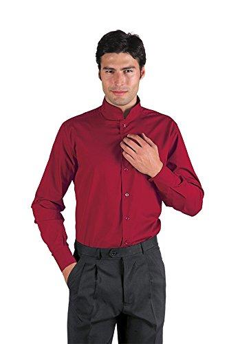 Cotone 35 Camicia Lunga Manica 23427 65 Unisex Isacco Dublino Poliestere Xs Albicocca Vermiglio n08Onqx6