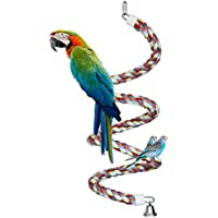 Bird Toys,94 inch Long Parrot Bungees Rope Toys Large