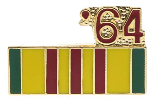 Sujak Military Items Vietnam Service Ribbon 1964 Hat or Lapel Pin HON14792