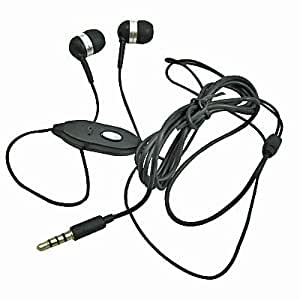 3.5mm Ear buds Headset Black for Coolpad Quattro 4G