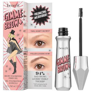Benefit Gimme Brow+ Volumizing Fiber Gel, 3 Medium Neutral Light Brown, 1 Count