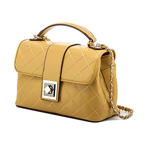 Crossbody Lady Handbag Light Leather Leather Bag Pure Woman Genuine Hobo Yellow for F0HwrFxq