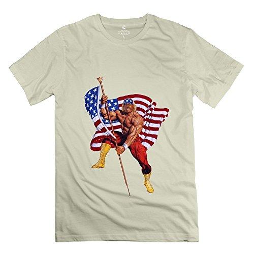 Price comparison product image Popular Hulk Hogan Old Glory Flag Men's T-shirt Natural Size XL