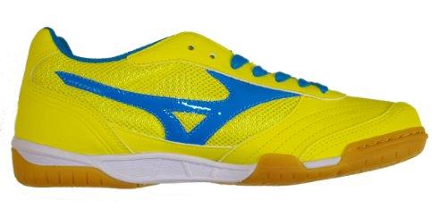 Mizuno Sala Club de Fútbol, Zapatos de Indoor (Interior) Giallo/Azzurro