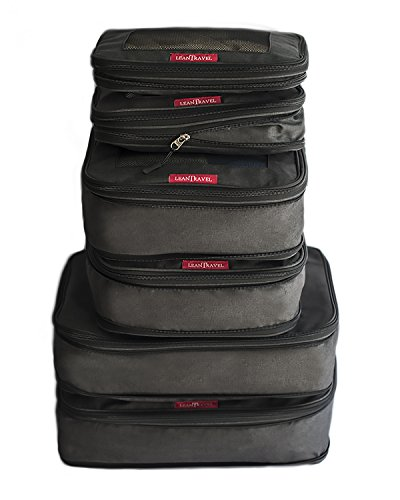 LeanTravel Compression Packing Luggage Cubes