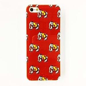 GJYFashion Elephants Pattern Plastic Hard Case for iPhone 5/5S , Multicolor