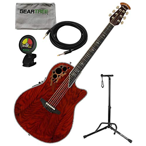 Ovation C2078AXP-OAB ExoticWoods Collection Acoustic Electric Guitar Olive Ash B ()