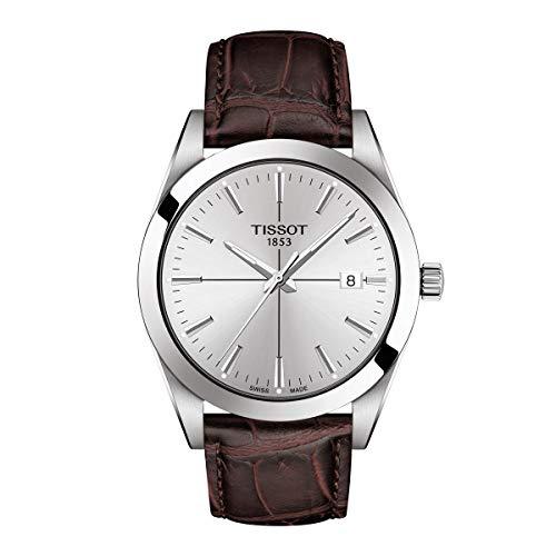 Tissot Men's Gentleman Quartz Swiss Quartz Stainless Steel Dress Watch (Model: T1274101603101)