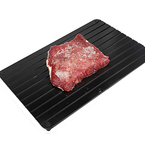 Rapid Thaw Defrosting Tray - Belpink fast meat desfroting plate | Quick defroster tray Miracle defrost board for frozen foods - 100% natural and safe