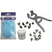 Small Animal Complete Tattooing Kit with 0-9 & A-Z, Nitrile gloves, and Ink for Identification of Sheep, Pigs, Goats, Cats, Dogs