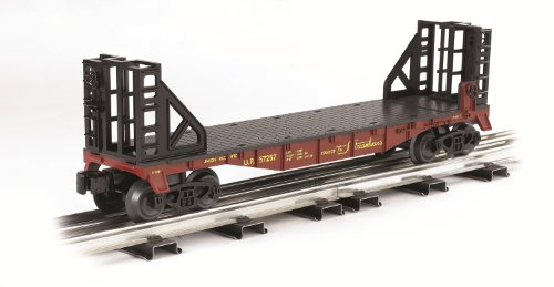 Williams By Bachmann Trains Flat Car With Bulkhead Ends - Union Pacific - O Scale (Pacific Union Car Flat)