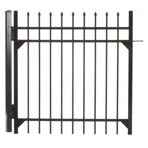 Specrail DIY Fence GR1483A048BL Branford Aluminum 3-Rail Fence Walk Gate with Hardware, 48 by 48-Inch
