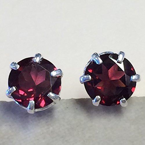 Earrings Cut Rhodolite ()