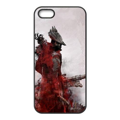Bloodborne coque iPhone 4 4S cellulaire cas coque de téléphone cas téléphone cellulaire noir couvercle EEEXLKNBC23684
