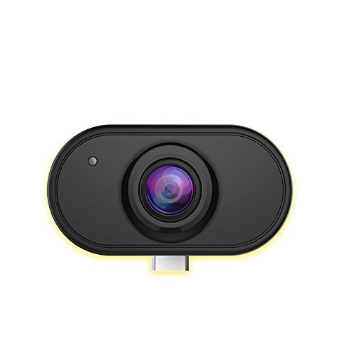 Camdora Smart Panorama Camera 3D Panoramic Point Shoot Digital Video Cameras 360 Degree VR Camera Fisheye Lens Wide Angle for Android OS Phone Live on Facebook,Youtube - Black