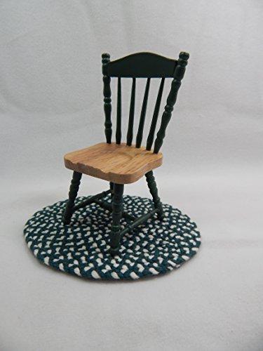 "Doll House Miniature 3"" x 4"" Wooden Green Chair #Z214B from Mini Bear Gems"