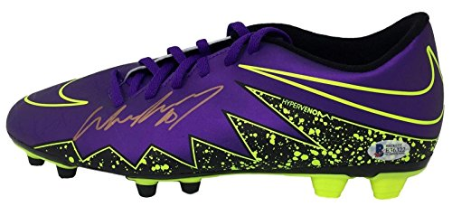 ff1c109cf Wayne Rooney Signed Purple Nike Hypervenom Soccer Left Cleat BAS - Beckett  Authentication - Autographed Soccer Cleats