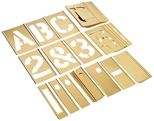 Interlocking Brass Stencils - CH Hanson 10075 45 Piece 5