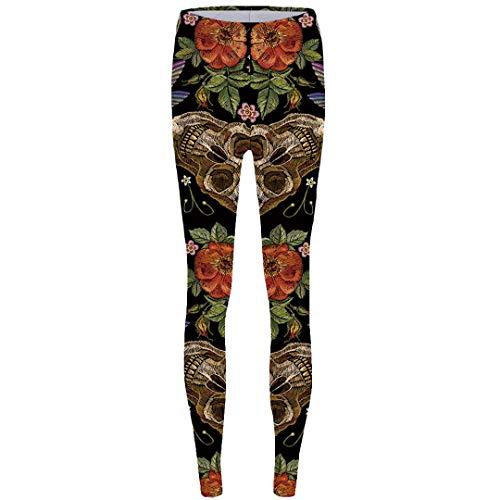 M-ONEZOU Halloween Leggings Bat 3D Pants Ghost Leggins Cat Legging Femme Trousers Long Legings Women Warm Winter Push Up Leggings 04 One -