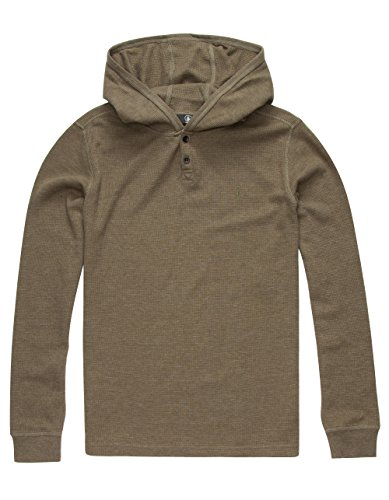 volcom-big-boys-murphy-hooded-thermal-shirt-military-medium