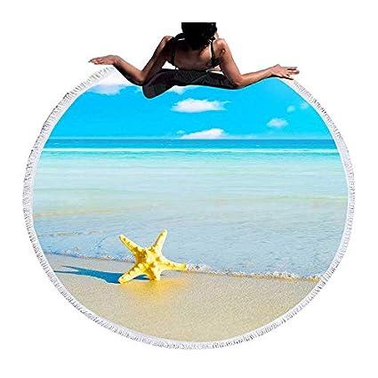 Amazon.com: WLEZY Beach Towel Starfish Sea Summer Beach ...