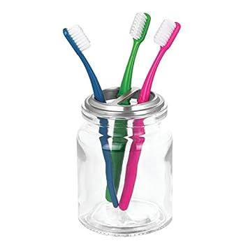 MetroDecor mDesign Accesorios para el baño - Vaso y Porta Cepillo de Dientes - Ideal como