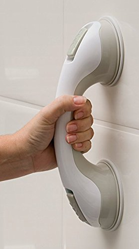 Fairbridge grab bar Bath Support with Free Sponge Shower - Suction Grip Bar and Shower Handle for Bathroom - Assist Balance Hand Rail for Tub Safety - for Baby, Elderly, Seniors, Handicap and Disabled