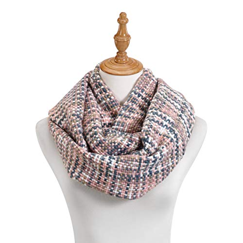 Pink Woven Threads Women's One Size Acrylic Fashion Infinity Scarf