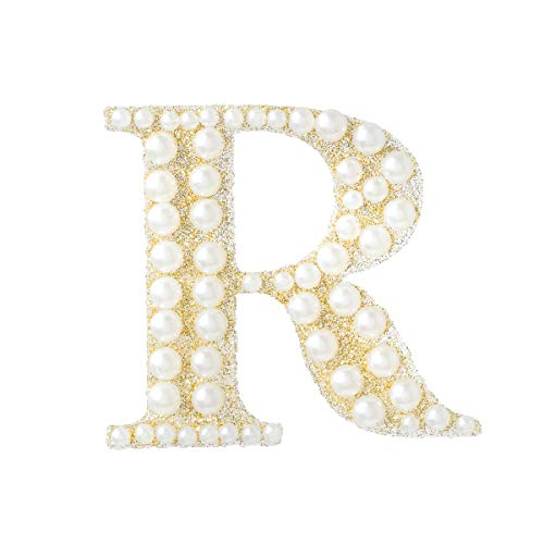 Darice 30053623 Gold & Pearl Monogram Letter R Sticker, Gold