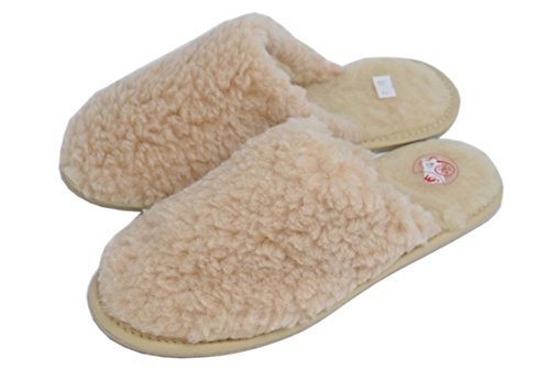 Giallo Donna Slippers Crema 1870womens Pantofole amarillo Slippers Sheep's Wool Natleat AF0qY