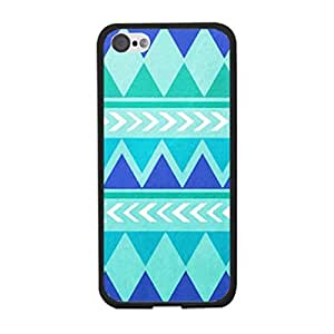 Cool Blue Green Geometric Triangle Diamond Aztec Pattern Case Cover for Iphone 5c Hard Plastic Back Cover Skin for Guys