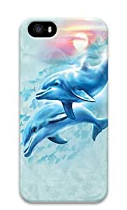 Dolphin Sunset PC Case Cover for iPhone 5 and iPhone 5s 3D