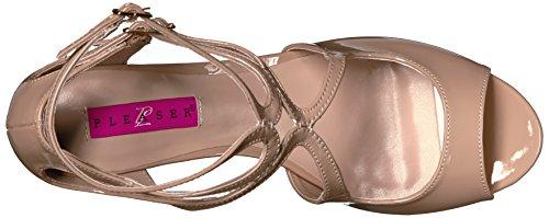 Pleaser Womens Kim04 / Cr Sandalo Con Zeppa Color Crema