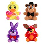 AG Goodies 4pcs Plush 5' Dolls Soft Toys Five Nights at Freddy's Inspired Stuff Animal Plush Toy