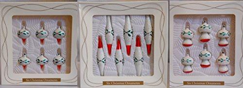 3 Sets of 6 Christmas Glass Ornament 2