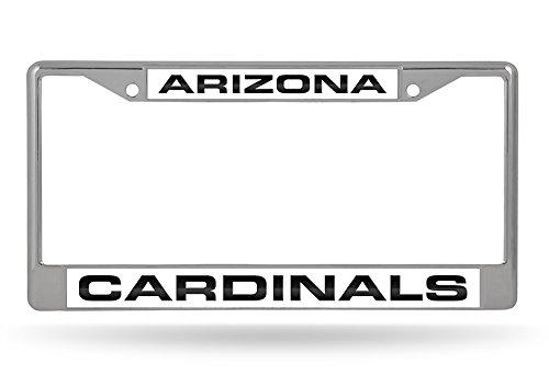 (NFL Arizona Cardinals Laser Cut Inlaid Standard Chrome License Plate Frame, Chrome)
