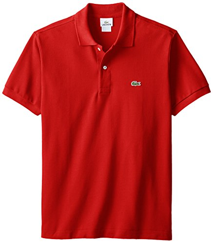 (Lacoste Men's Classic Short Sleeve L.12.12 Pique Polo Shirt,Red,Medium)