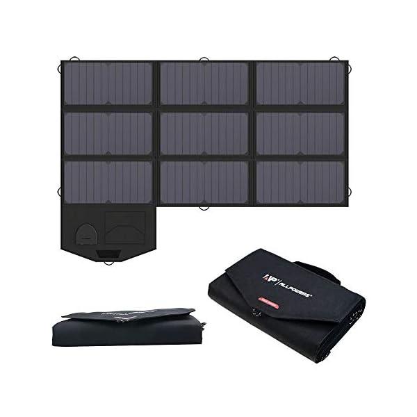 41Zwr ALLPOWERS 60W Faltbares Solarpanel Solarmodule mit 18V DC Ausgang für Tragbaren Generator, Laptops, 12V Auto Boot RV…