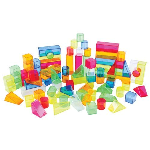 Joyn Toys Transparent Light and Color Blocks - 108 Pieces