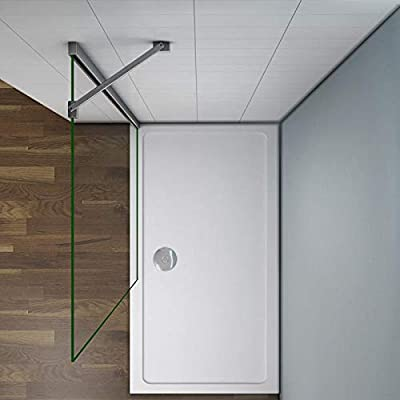 Mamparas de Ducha Frontales Puerta Fijo WALK IN Antical 10mm Cristal Barra 45cm 80x200cm: Amazon.es: Bricolaje y herramientas