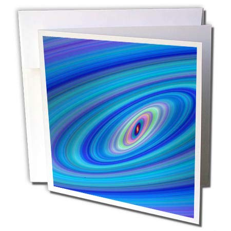 3dRose David Zydd - Colorful Abstract Designs - Blue Space - Abstract Ellipse Graphic - 1 Greeting Card with Envelope (gc_289087_5) ()