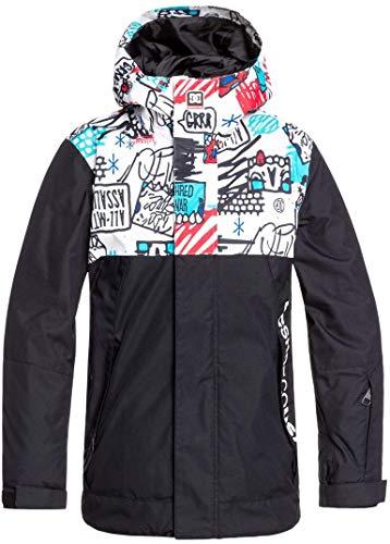 DC Defy Snowboard Jacket Kid's Sz M (10) White Youth Mini Ply Print