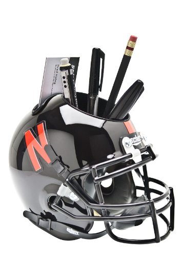 Schutt NCAA Nebraska Cornhuskers Helmet Desk Caddy, Black by Schutt