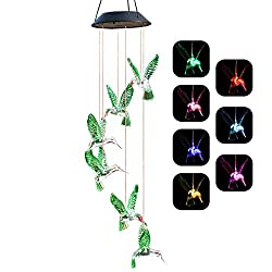 ❤SOLAR POWER, CHARGE AND LIGHT UP AUTOMATICALLY Charging automatically in the sunny daytime and light up at night. You can hang it in your garden tree, fences, courtyard,  front door, front porch...... ❤MUTIL-COLOR CHANGING RANDOMLY Changing colors ...