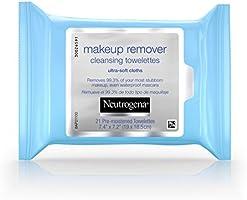 Neutrogena Makeup Remover Cleansing Towelettes/Wipes, Paquete de 3