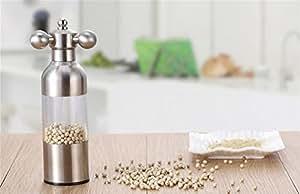 Stainless steel pepper grinder black pepper pepper pepper grinder manual grinding condiment bottles ( Size : L )