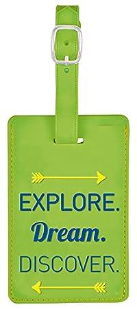 Explore Dream Gr/ün in knalligen Farben Gep/äckanh/änger 11 cm Fernweh Kofferanh/änger moses Discover