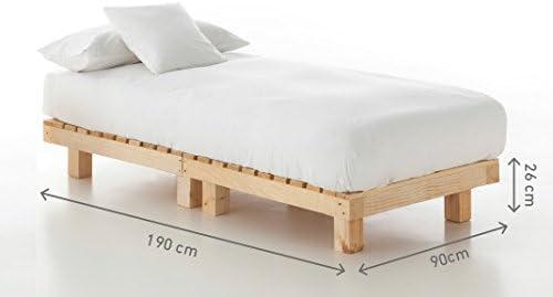 CAMA INDIVIDUAL CUBIC de madera de palet nuevo: Amazon ...
