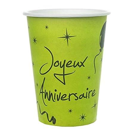 1001decotable - 100 Vasos de Color Verde anís Feliz ...