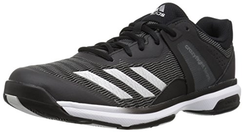 adidas Women's Crazyflight Team Volleyball Shoes, Metallic Silver/Black, (10 M US)